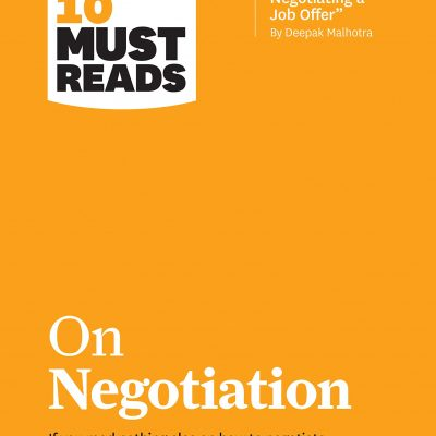 HBR's 10 Must Reads on Negotiation BookZyfa